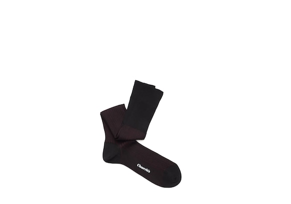 Church's Contrast ribbed long socks Cotton Ribbed Long Black