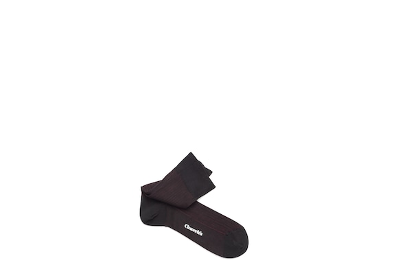 Church's Contrast ribbed socks Cotton Ribbed Short Black