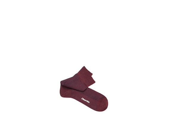 Church's Contrast ribbed socks Cotton Ribbed Short Burgundy