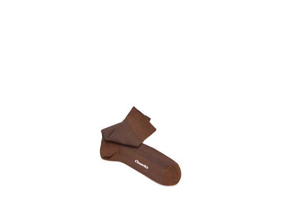 Church's Contrast ribbed socks Cotton Ribbed Short Brown