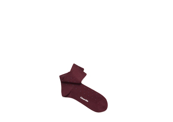 Church's true Cotton Dot Short Burgundy