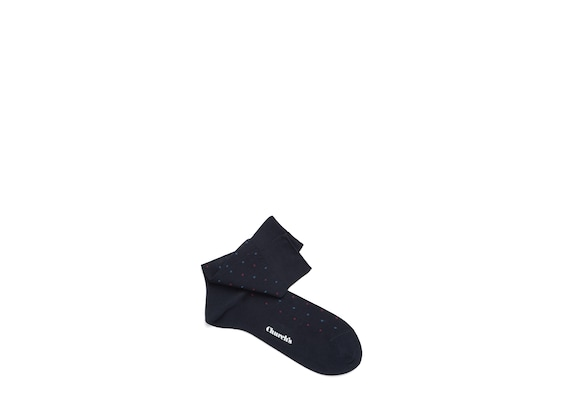 Church's Contrast diamond socks Cotton Dot Short Navy