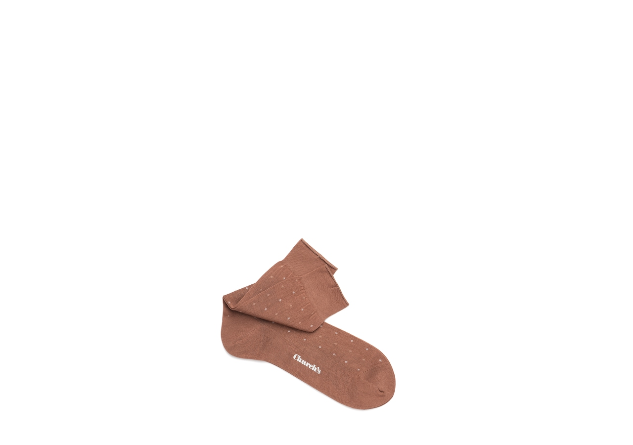 Contrast diamond socks Church's Cotton Dot Short Brown