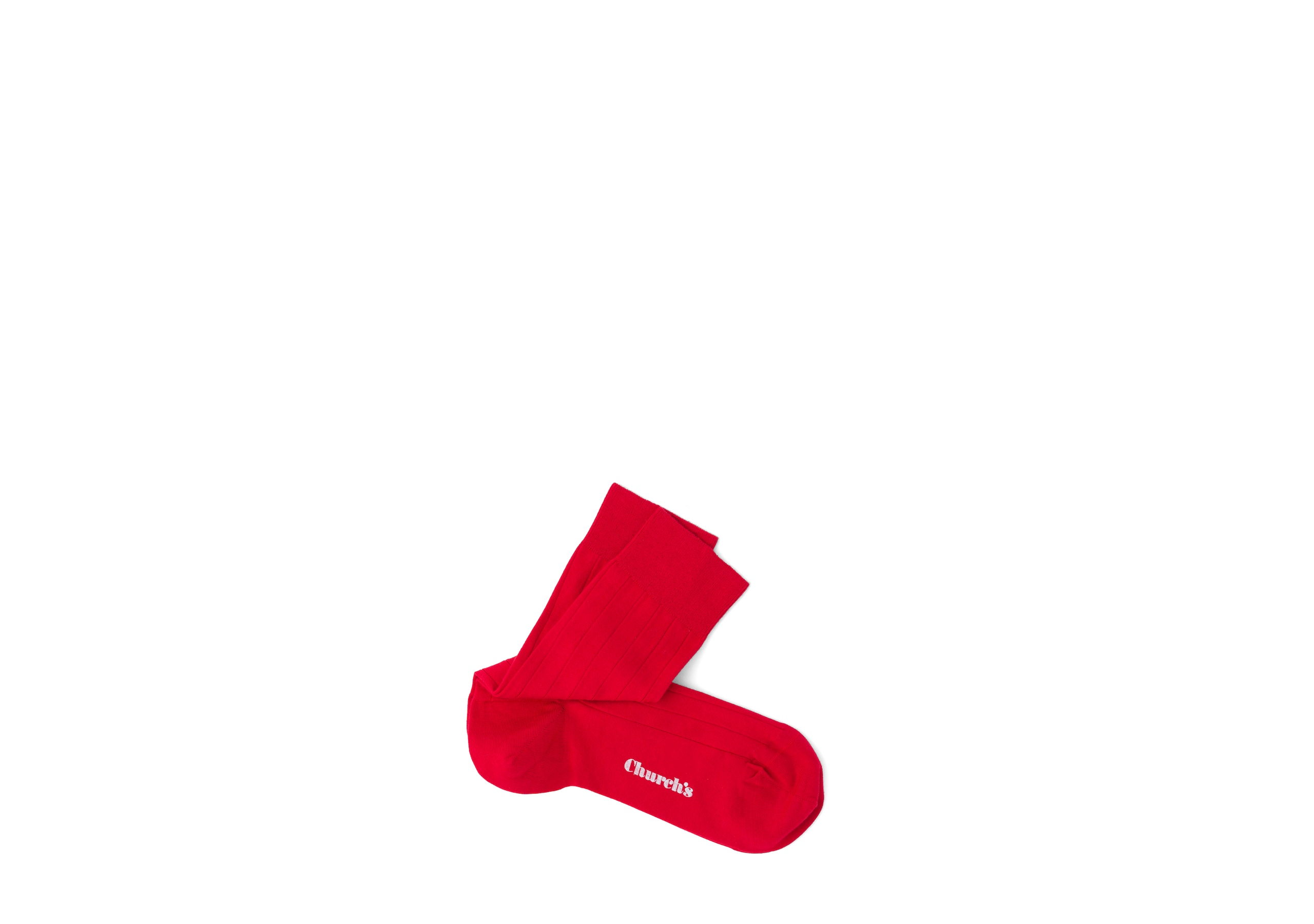 Plain cotton Church's Cotton Ribbed Short Red