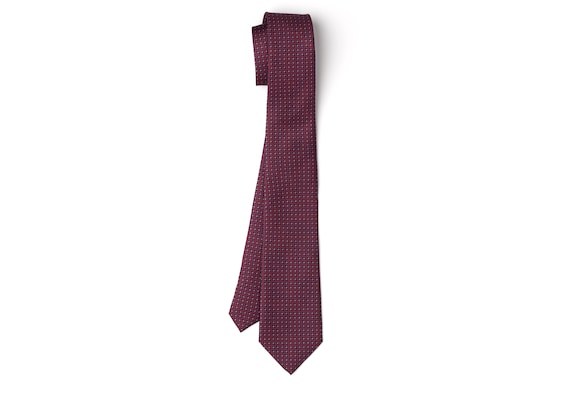Church's Chain print tie Printed Silk Twill Navy