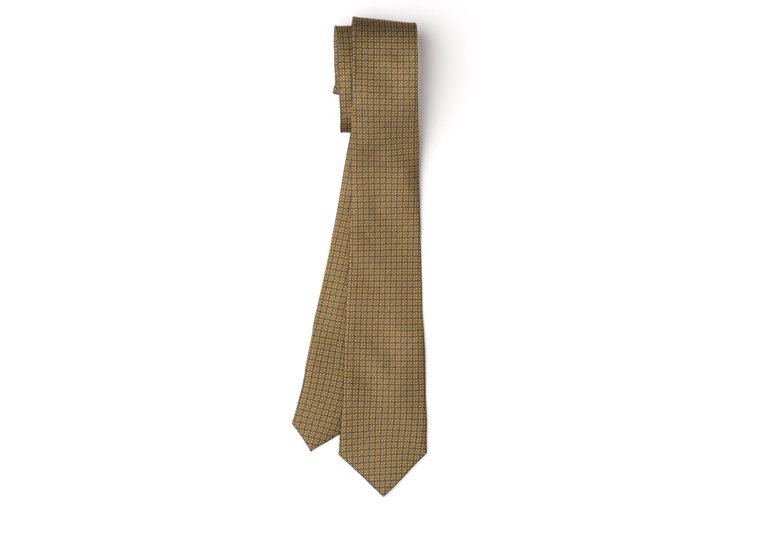 Chain print tie Church's Twill di seta stampato Giallo