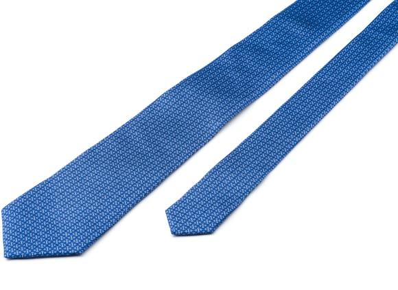 Church's Chain print tie Sergé de soie imprimé Bleu