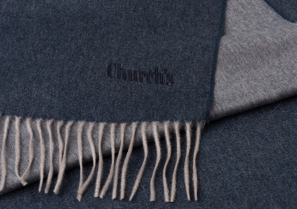 Church's Scarf Cashmere Light blue/grey