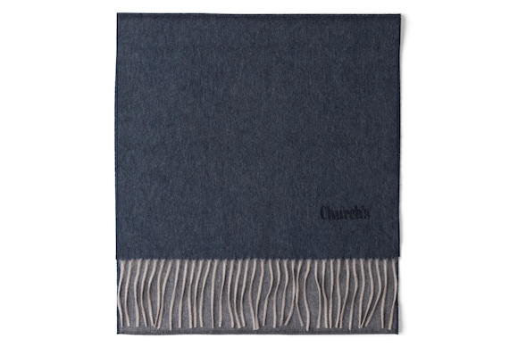 Church's Scarf Cachemire Light blue/grey