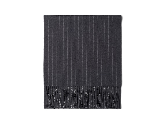 Church's Plain bi-color scarf ウール グレー