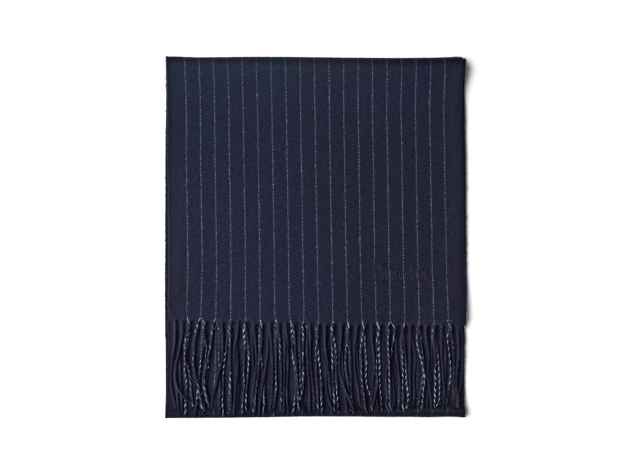 Pin stripe scarf Church's Wool Blue