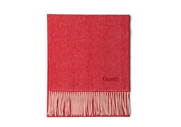 Church's Scarf Herringbone Laine Rouge