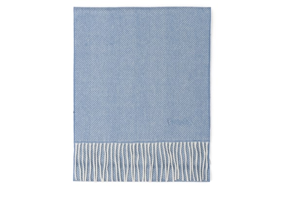 Church's Scarf Herringbone Laine Light blue
