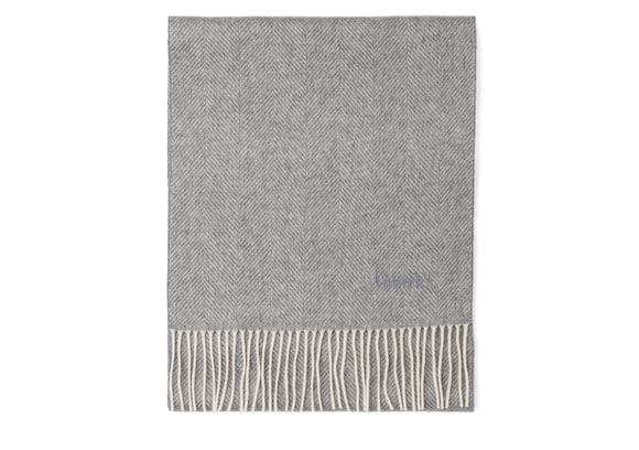 Church's Scarf Herringbone Laine Gris clair