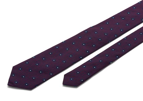 Church's Diamond motif tie Cravate À Motif De Diamant Bordeaux