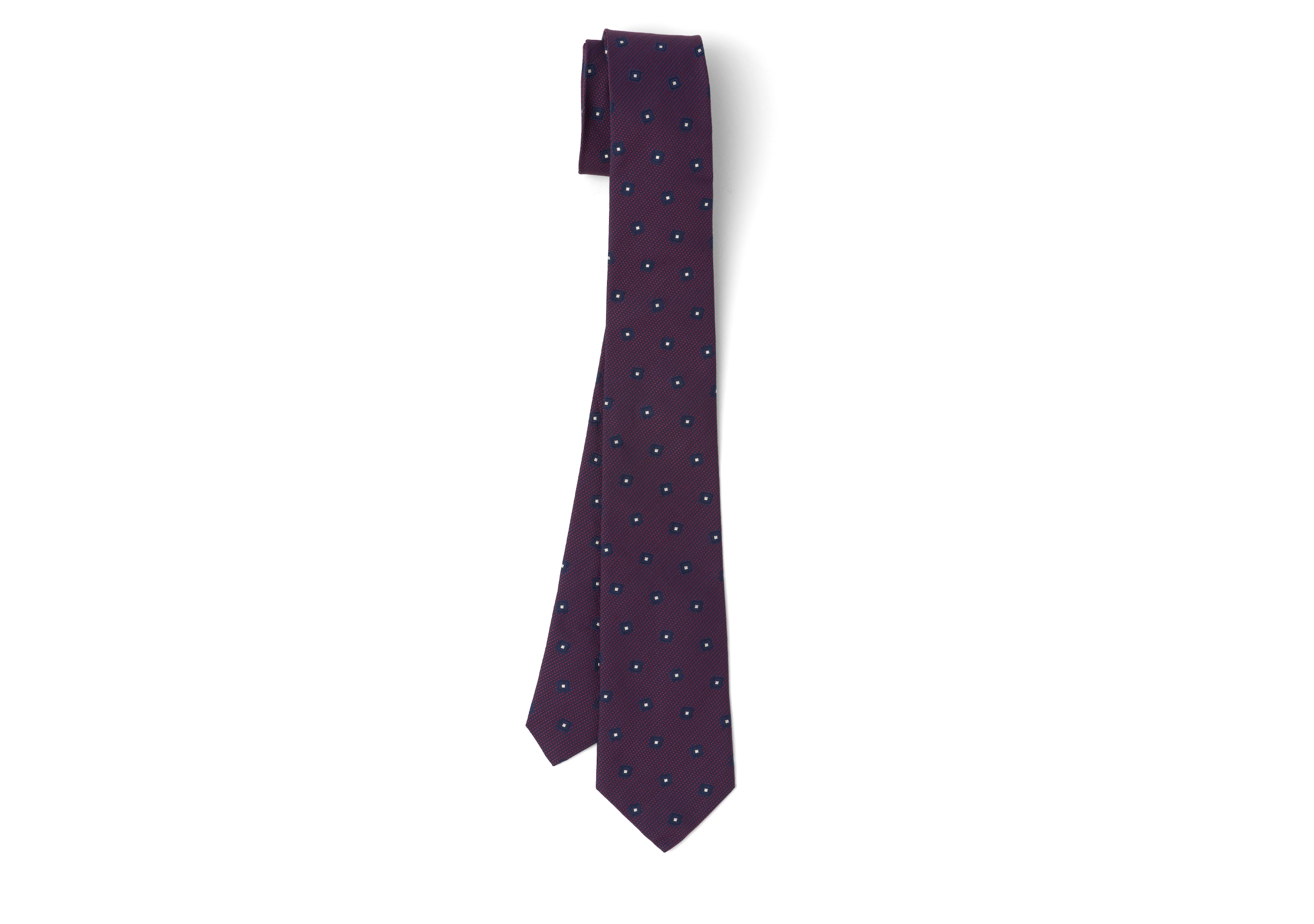 Diamond motif tie Church's Diamond Motif Tie Burgundy