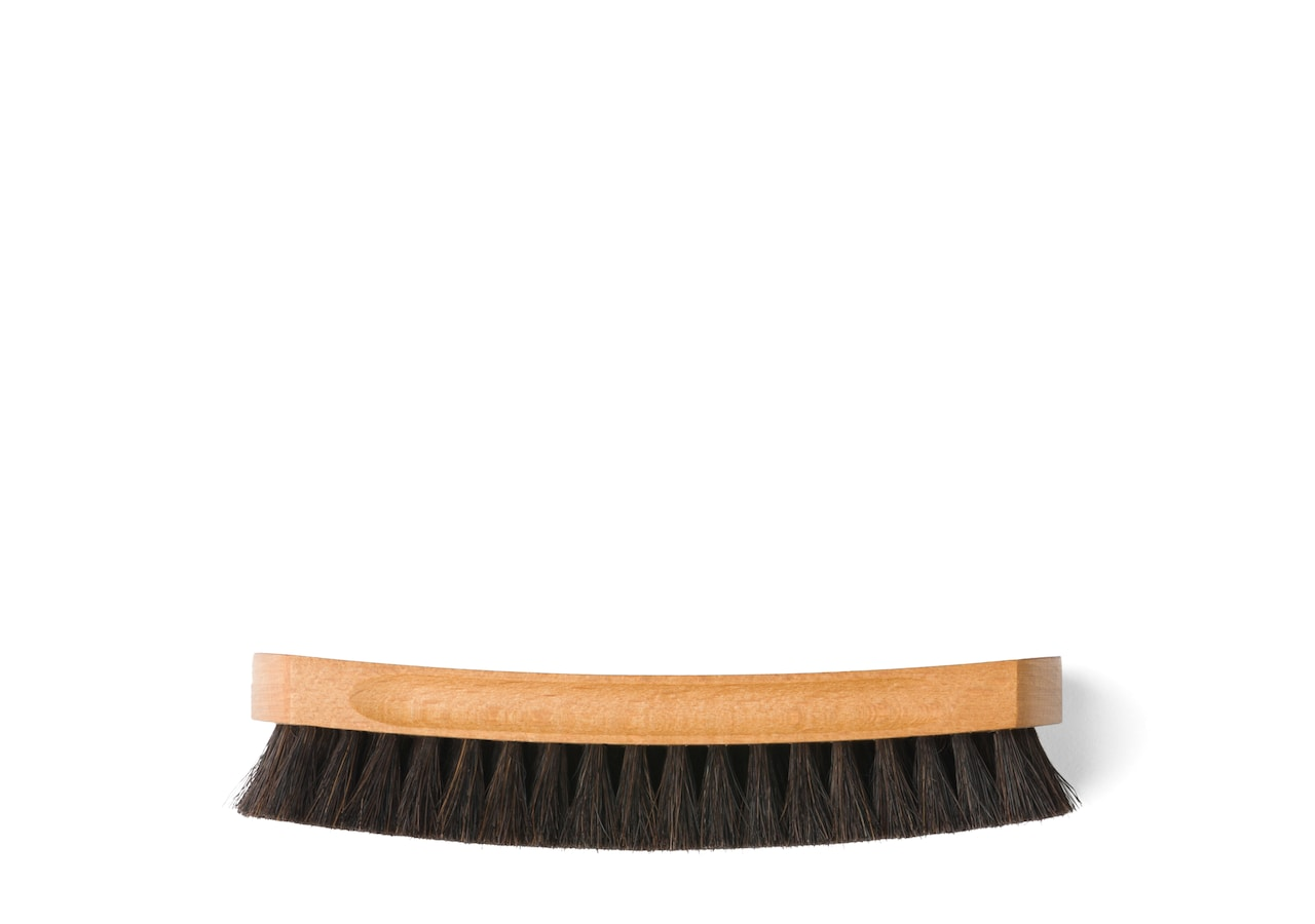 Leather buffer brush Church's Horsehair Brush Large Black