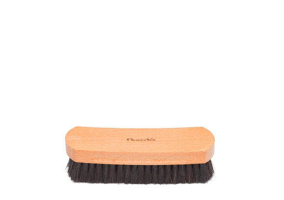Church's Leather upper brush Petite Brosse en Crin de Cheval Noir