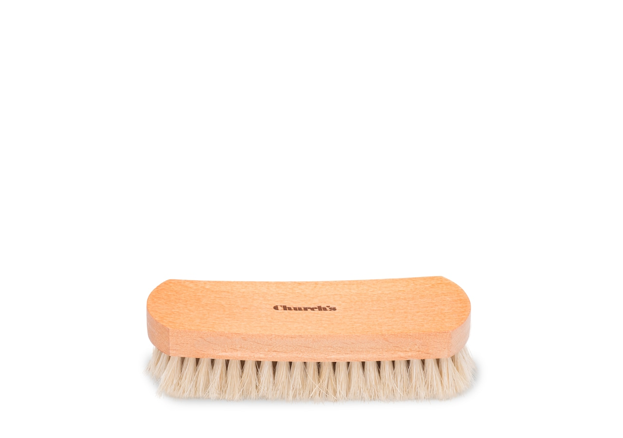 Leather upper brush Church's Horsehair Brush Small Grey