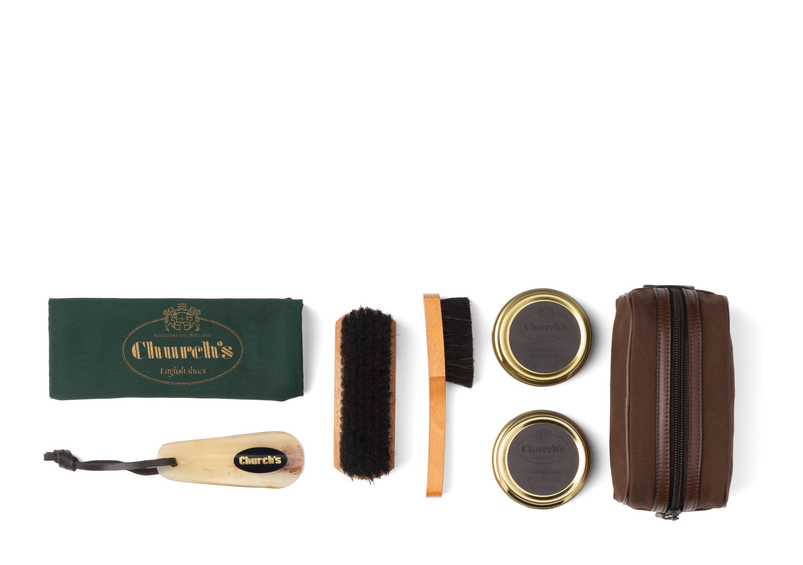 Travel shoe care kit Church's Leather Essential Shoe Cleaning Kit Neutral