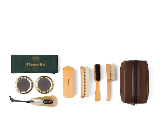 Church's Travel shoe care kit Complete Leather Shoe Cleaning Kit Neutral