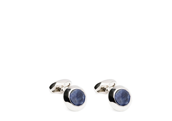 Church's Oscillation cufflinks Ovale Sodalite et Plaqué Rhodium