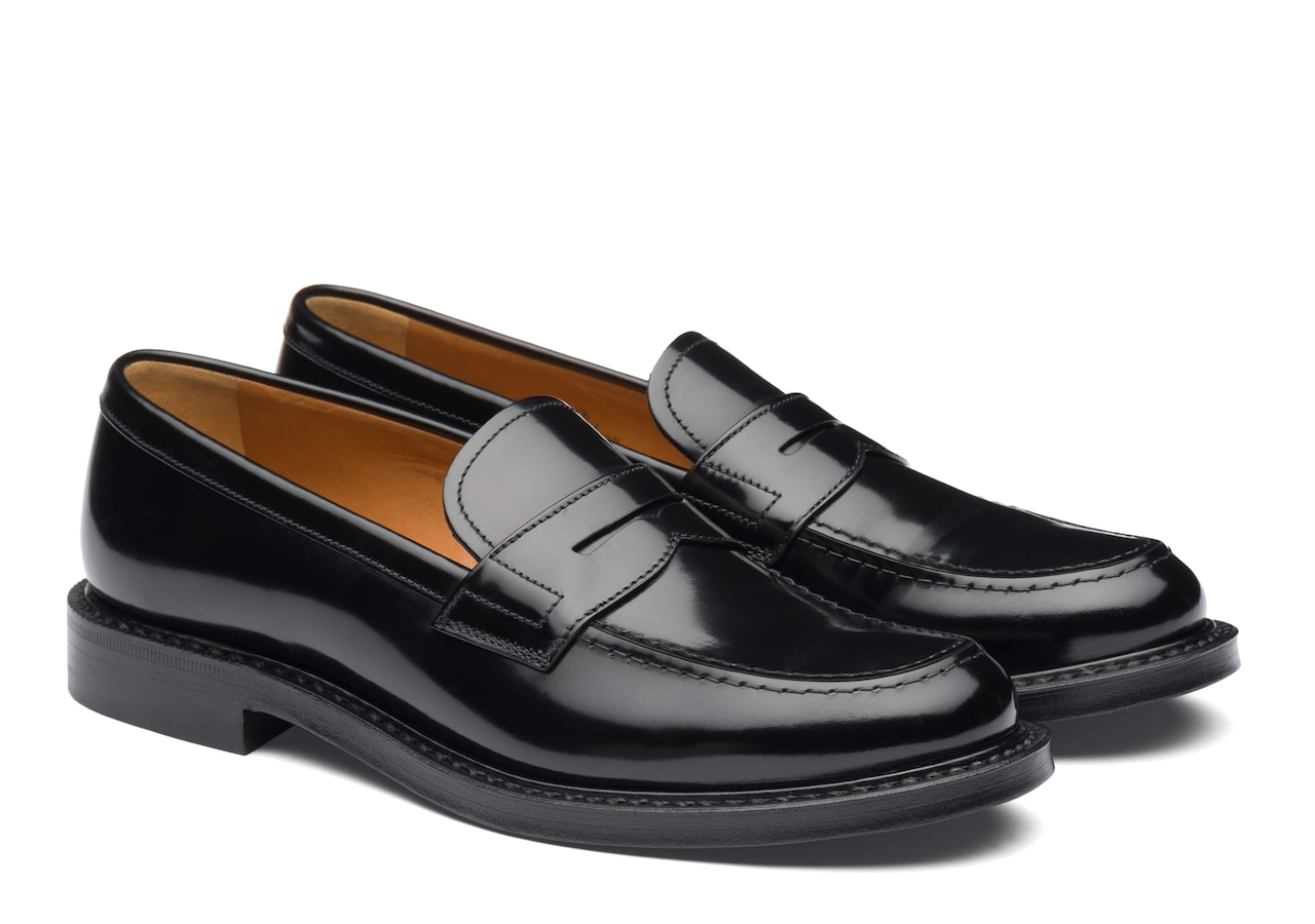 Staden w Church's Polished Binder Loafer Black