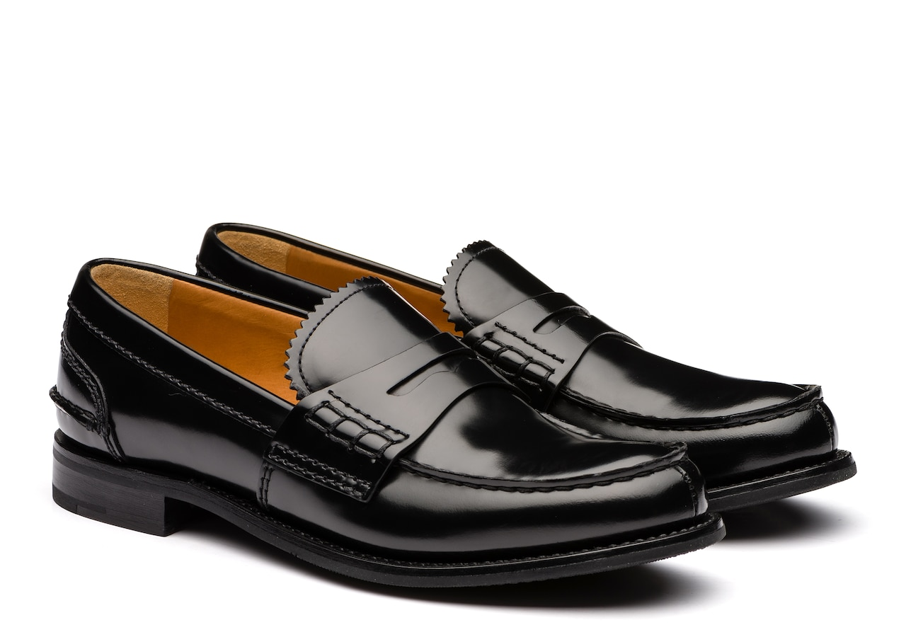 Pembrey w Church's Polished Fumè Loafer Black