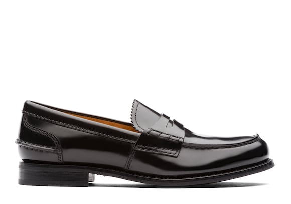 Church's Pembrey w Polished Fumè Loafer Black