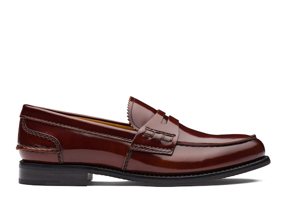 Church's Pembrey 2w Polished Fumè Loafer Tabac