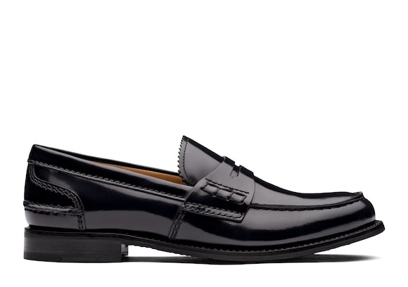 Church's Pembrey 2w Polished Fumè Loafer Blue