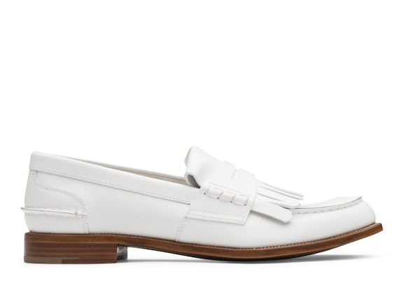 Church's Odessa Prestige Calf Penny Loafer with Fringe White