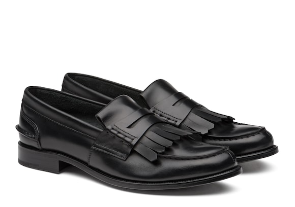 Church's Odessa Prestige Calf Penny Loafer with Fringe Black