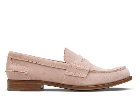 Church's Pembrey 2w Suede Loafer Blush