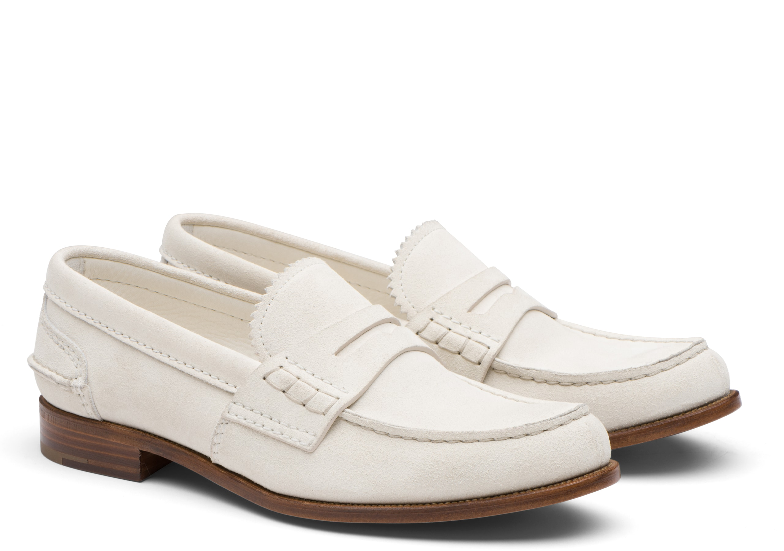 Pembrey 2w Church's Suede Loafer White
