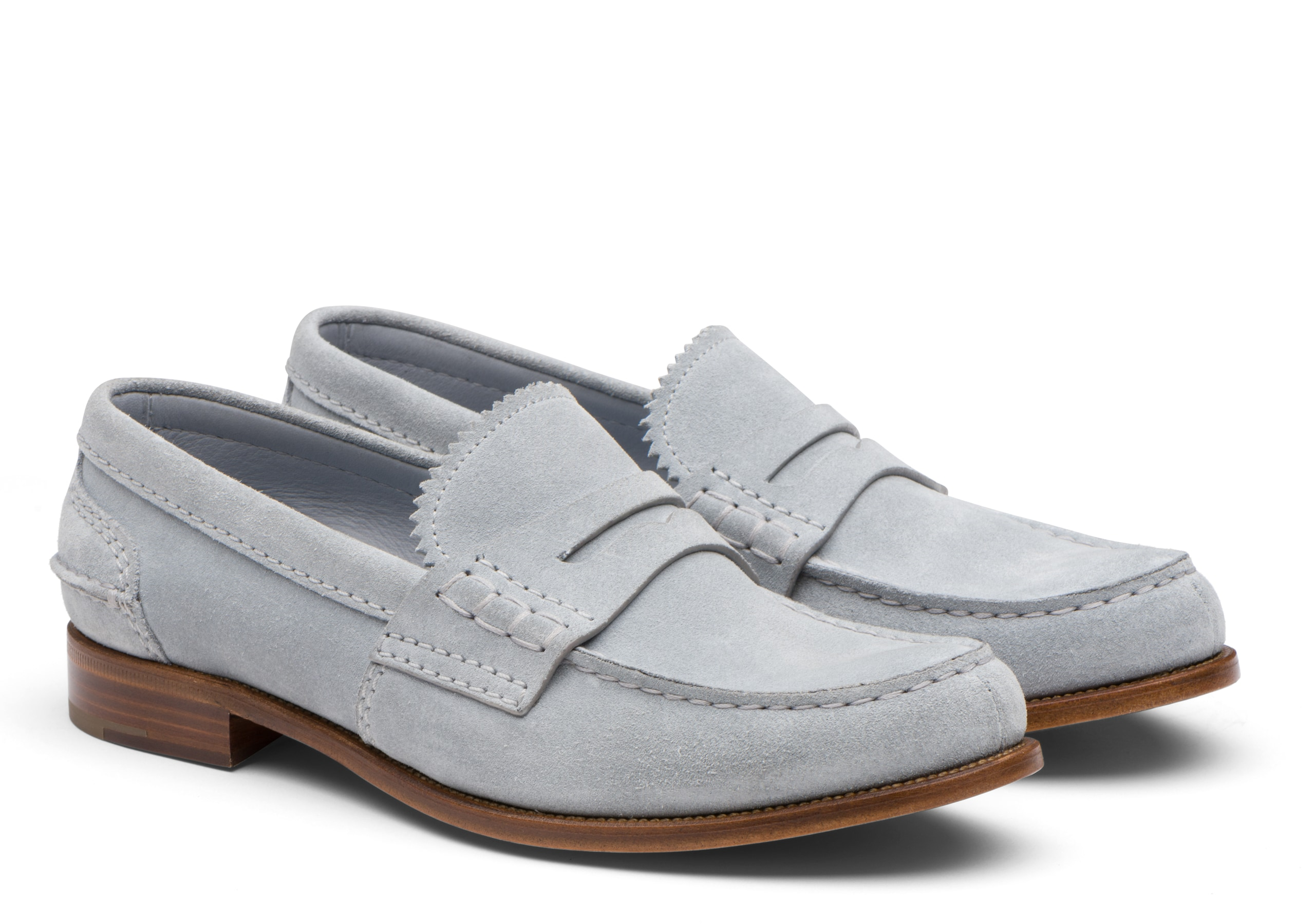 Pembrey 2w Church's Suede Loafer Light Blue