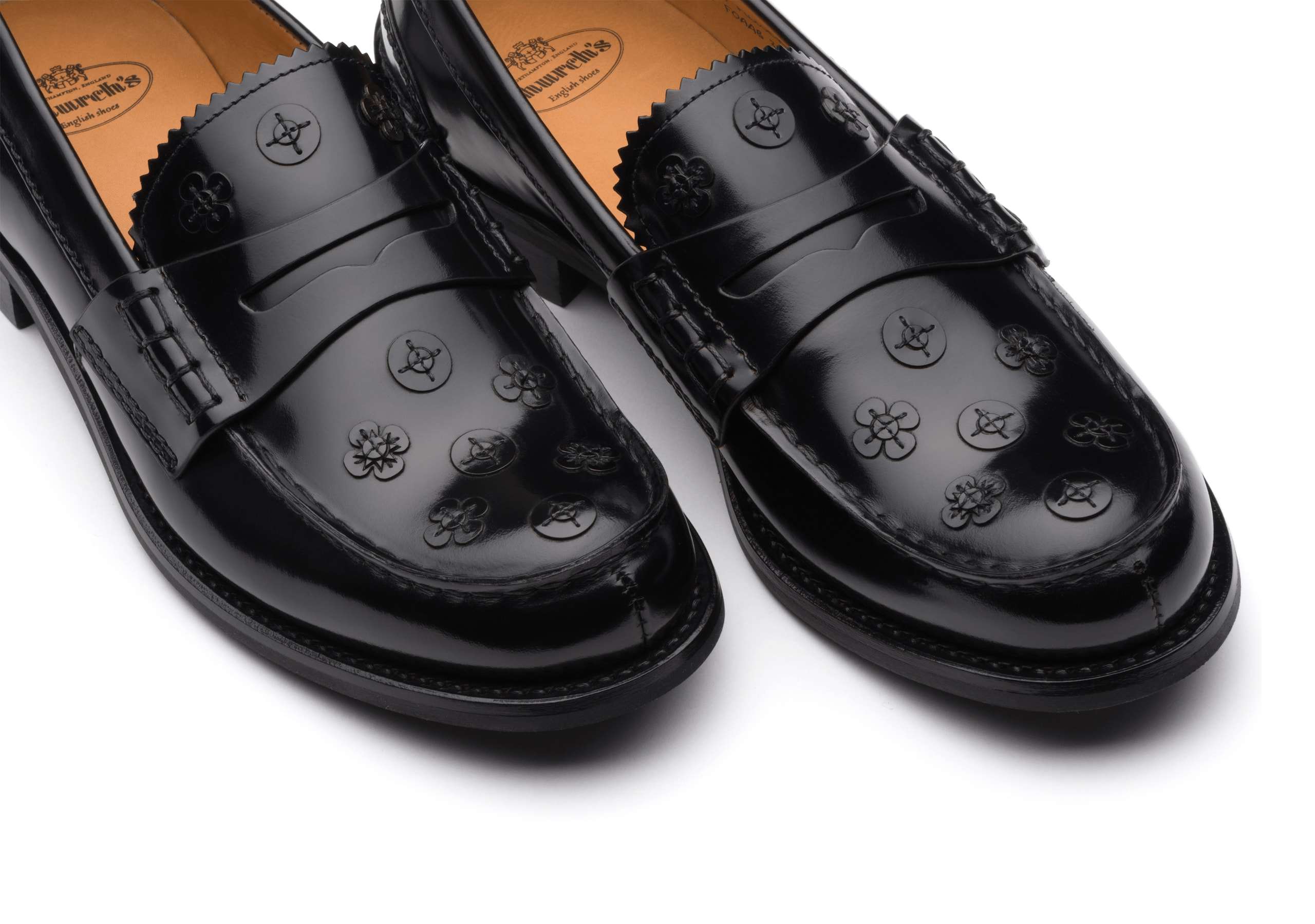 Pembrey blossom Church's Polished Binder Loafer Appliqué Black