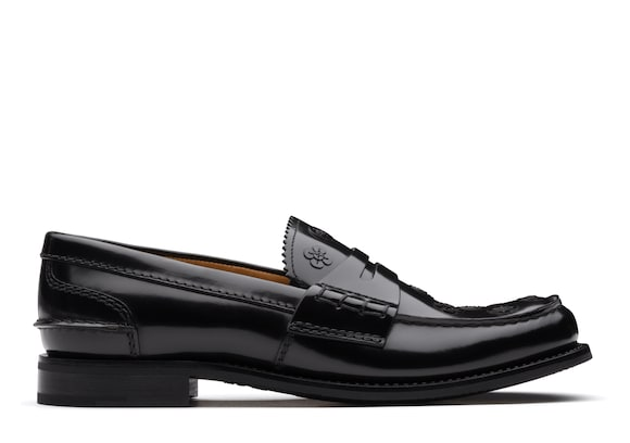 Church's Pembrey blossom Polished Binder Loafer Appliqué Black
