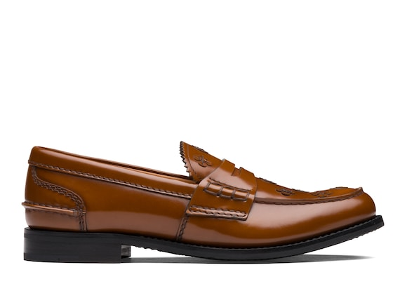 Church's Pembrey blossom Polished Binder Loafer Appliqué Sandalwood