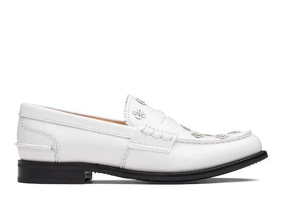 Church's  Polished Binder Loafer Appliqué White