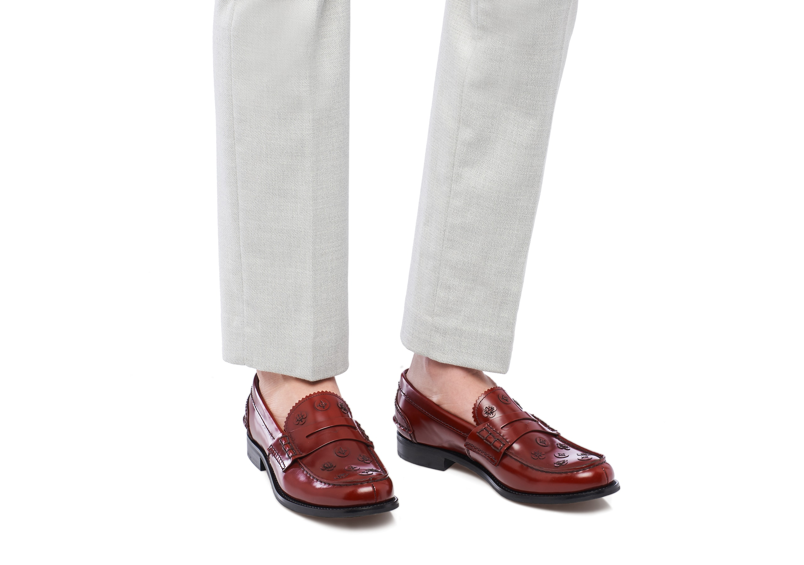 Pembrey blossom Church's Polished Binder Loafer Appliqué Red