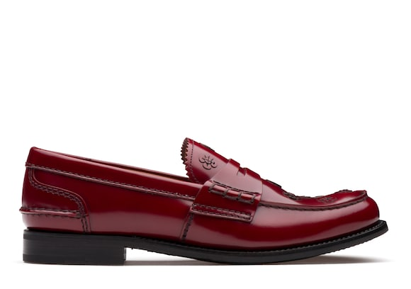 Church's Pembrey blossom Polished Binder Loafer Appliqué Ruby