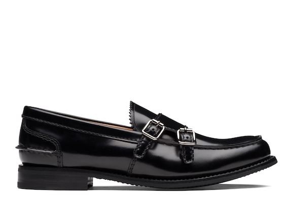 Church's Backford 2w Polished Fumè Monk Loafer Black