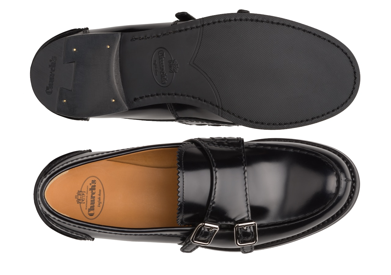 Backford 2w Church's Polished Fumè Monk Loafer Black