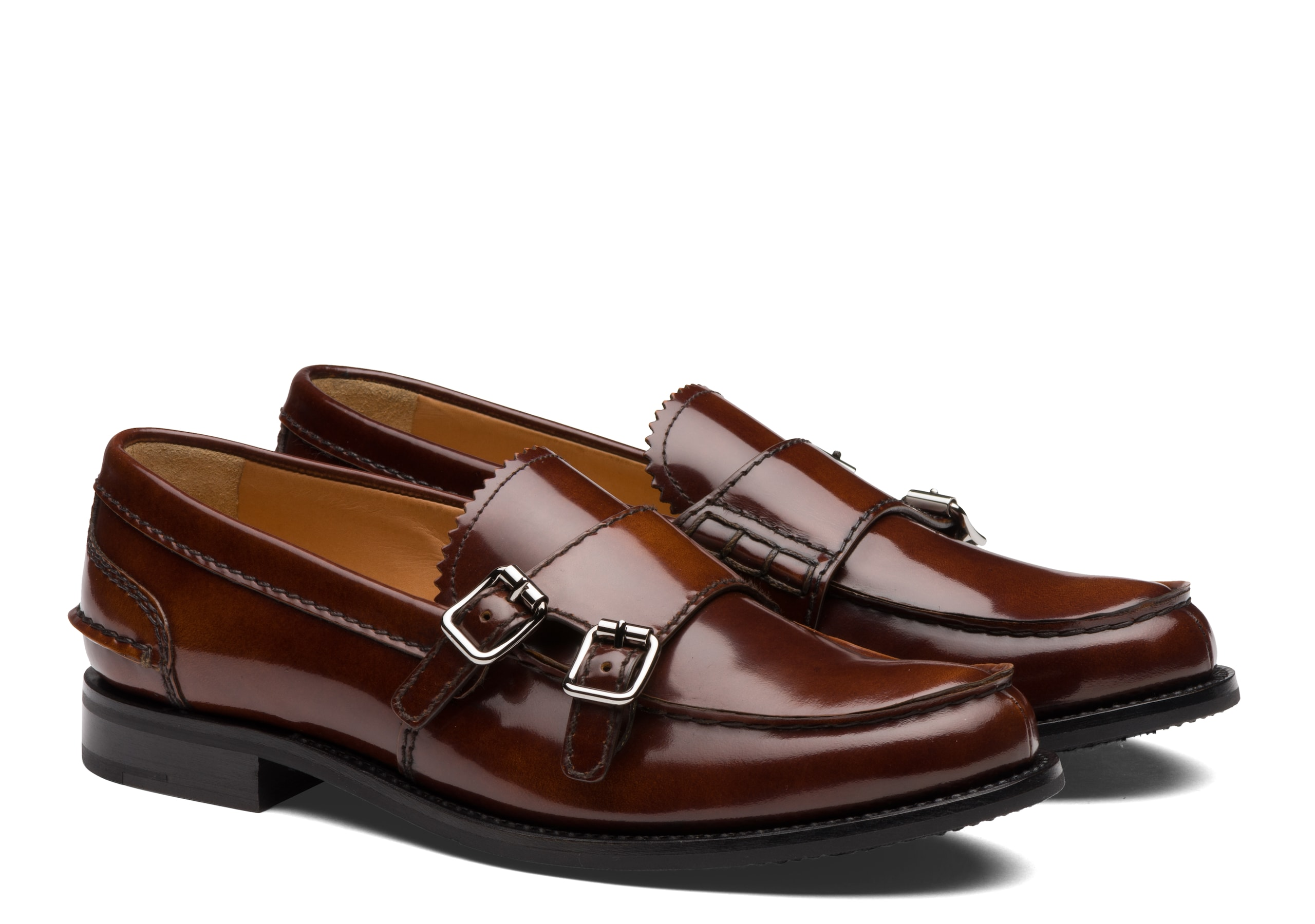 Backford 2w Church's Polished Fumè Monk Loafer Brown