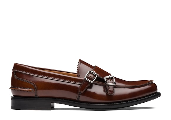 Church's Backford 2w Polished Fumè Monk Loafer Tabac