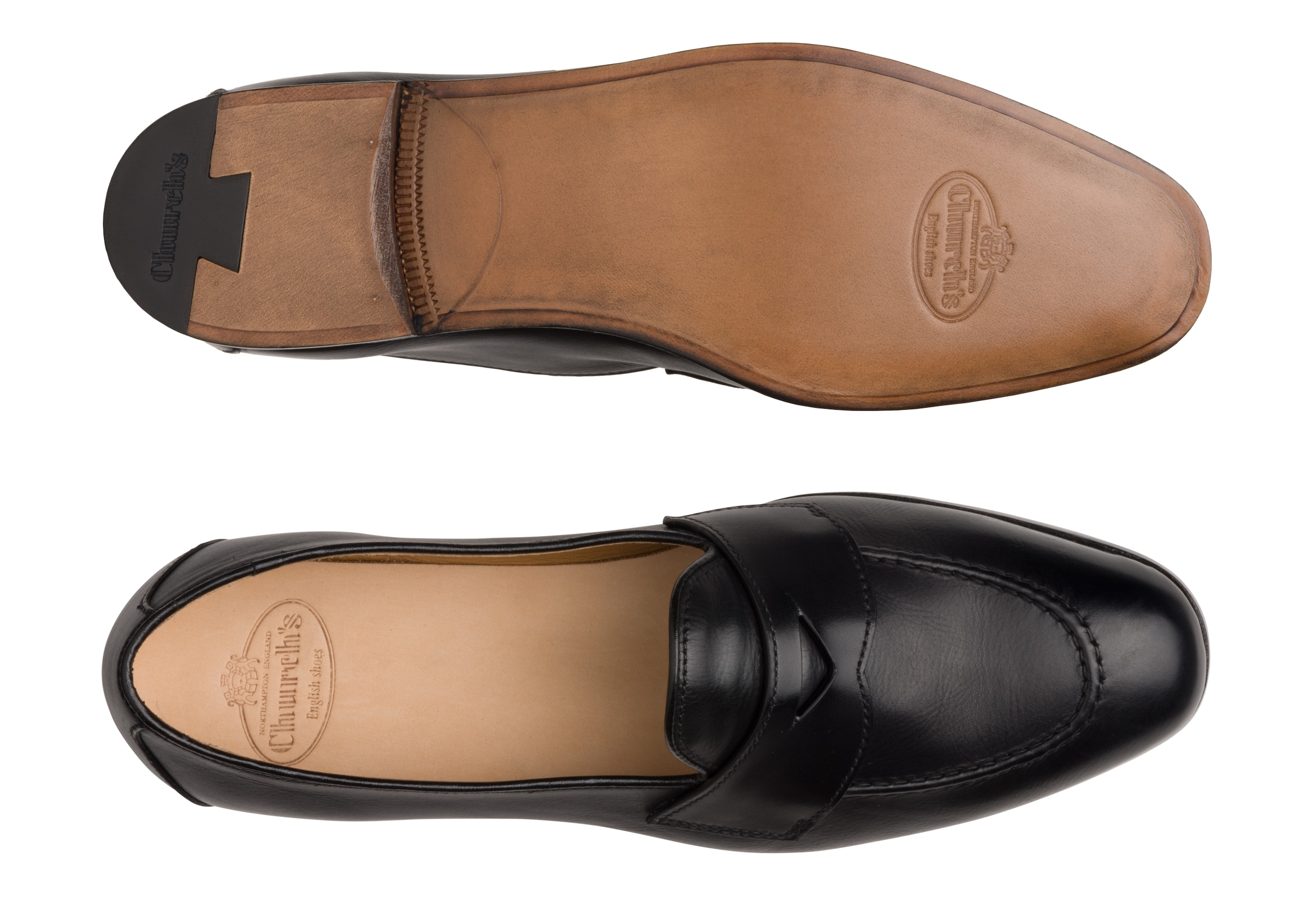 Dundridge w Church's Mocassin en Cuir de Veau Noir