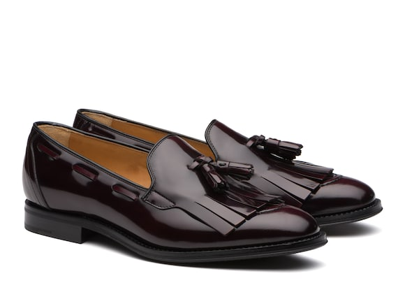 Church's Erika Polished Fumè Fringe Tassel Loafer Light burgundy