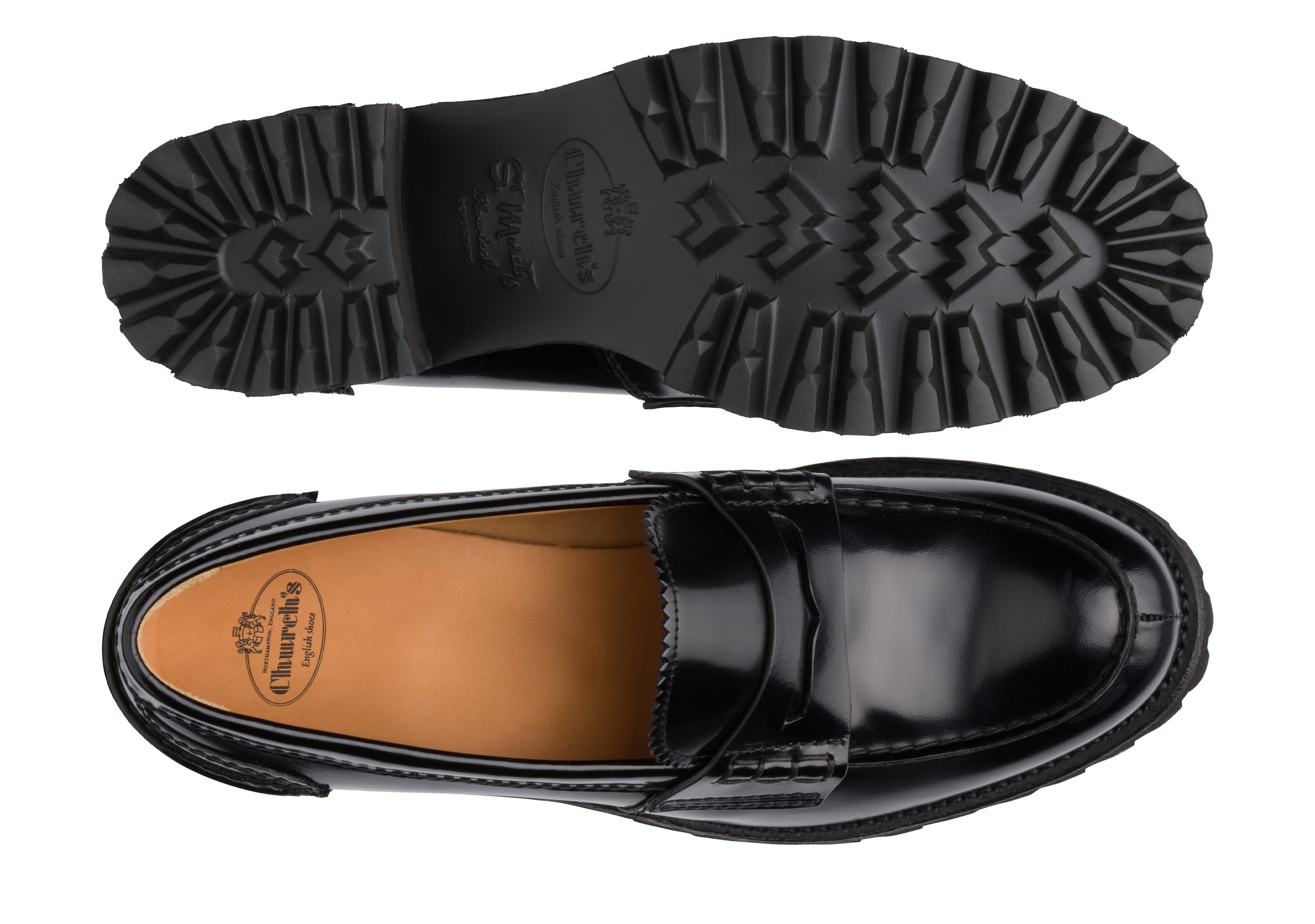 Pembrey 40t Church's Polished Fumè Loafer Black