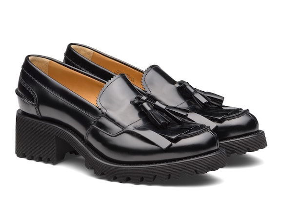 Church's  Polished Fumè Tassel Loafer Black